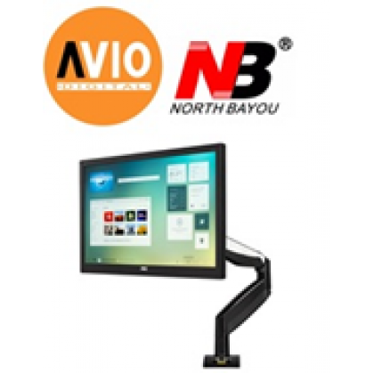 NB North Bayou F85A 22 to 32 inch TV Monitor Desktop Bracket Mount USB Port